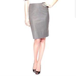 HUGO BOSS | Vilina Wool Blend Skirt in Taupe